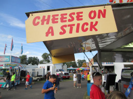Emm-Em...Cheese On A Stick at the local summer fair!