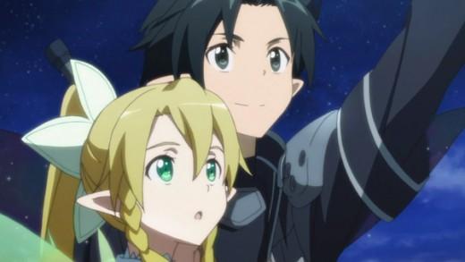 "Kirito and Suguha (Leafa) in ""Afheim Online"","
