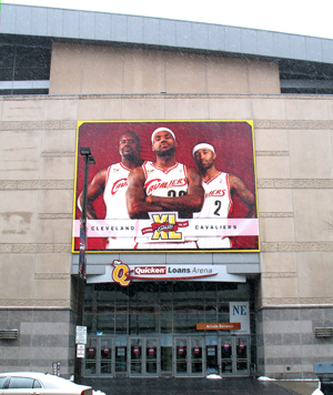 Competing venue: Quicken Loans Arena (formerly Gund Arena), downtown Cleveland
