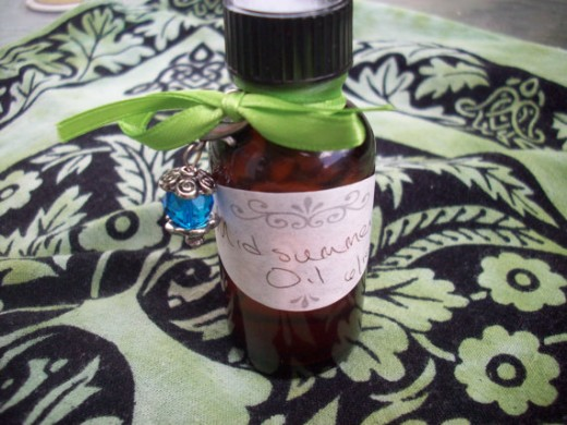 Always put your oils in amber bottles to preserve them. Dress them up with ribbons and labels!