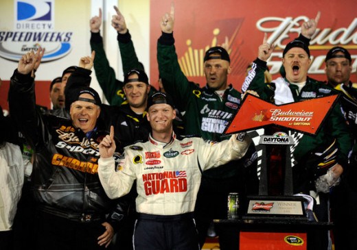 Earnhardt won his first race as a member of Hendrick Motorsports (the Bud Shootout). It would be a while before he won again
