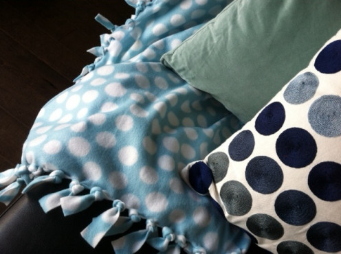 Polka the dots--when circles are beautiful and blue is cool.