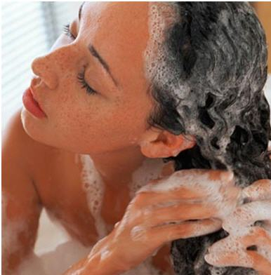 Wash Your Hair with a small amount of shampoo IF necessary to remove all the Shea butter