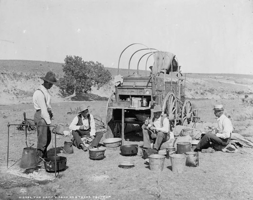 A Chuck Wagon in Texas in 1900.