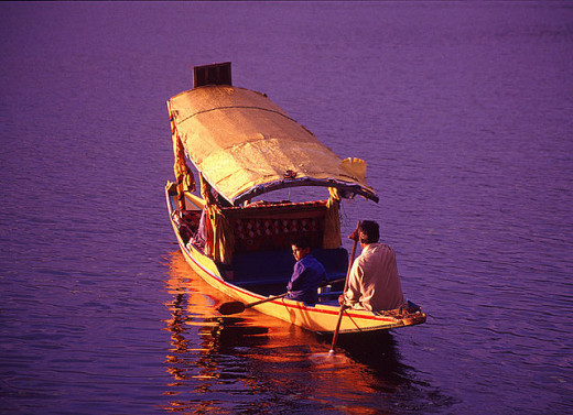 A Shikara in Dal Lake, Srinagar