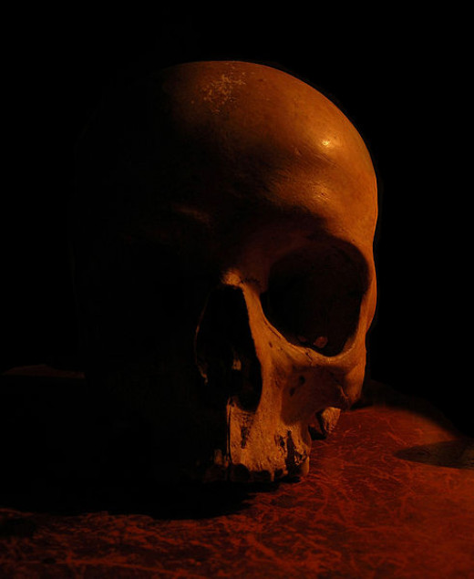Haunted skull stories are numerous throughout the world.