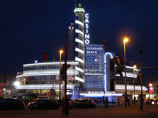 Blackpool Pleasure Beach where Ripleys Odditorium is located.