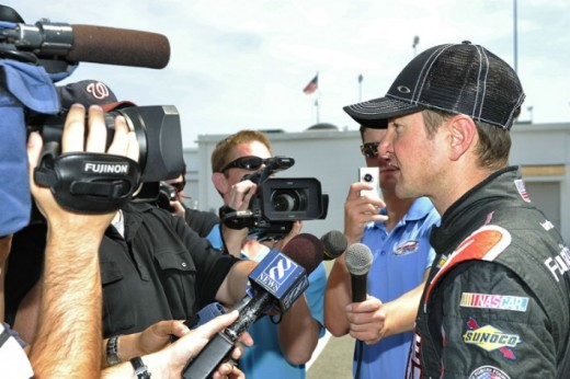 Kurt Busch draws attention from media members thanks to his controversial history