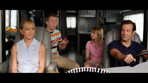 Jennifer Aniston, Will Poulter, Emma Roberts and Jason Sudeikis are the title family in the comedy We're the Millers