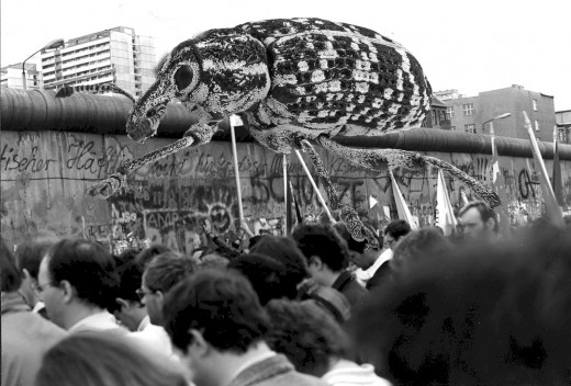 Little known historical fact:  The first bricks in the demolition of the Berlin Wall were actually removed by a giant, mutant weevil.