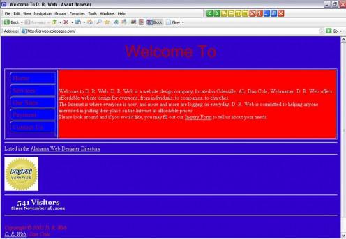 Bad website Design : Bad Use of Background Colors