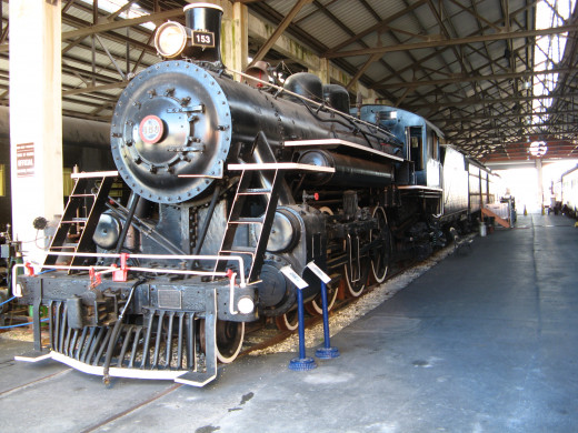 Locomotive Engine on display at the Gold Coast Railroad Museum
