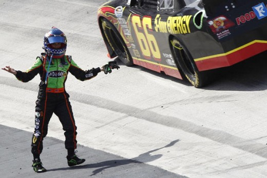 Danica took a cue from her boss at a prior Bristol race, extracting a measure of on track humiliation after being wrecked