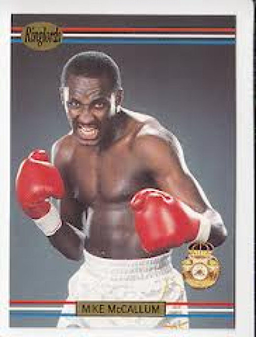 """Mike """"The Body Snatcher"""" McCallum is seen here posing on a boxing card. He fought all the best boxers of his era."""