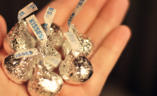 Hershey's Kisses are yummy bite-size treats.