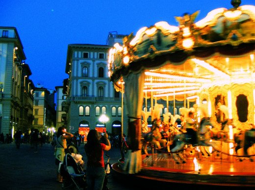 Street Carousel in Florence, Italy