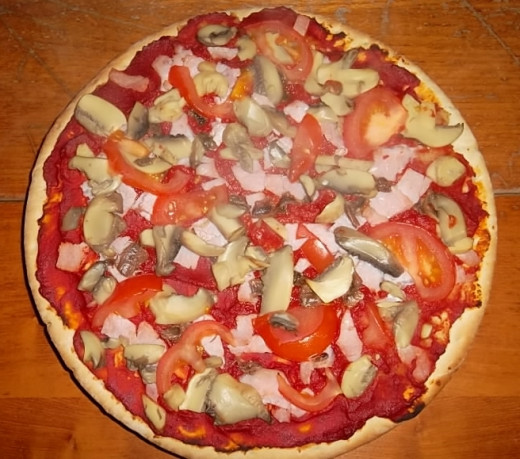 Pizza with Healthy Toppings