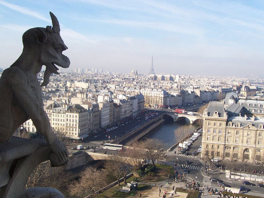 Paris, where an American author had a remarkable coincidence.