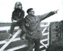 Walk founder, local farmer Bill Cowley with daughter back in the early 50's