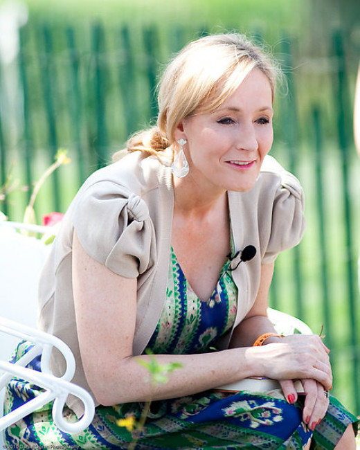 J.K. Rowling at the White House in 2010.