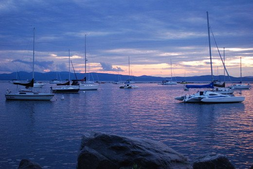 Lake Champlain at Dusk