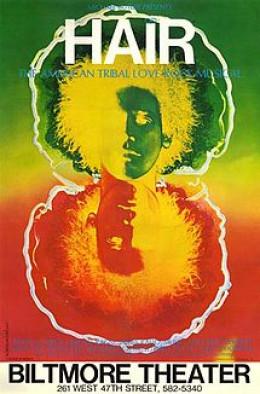 Hair 1968 musical poster.