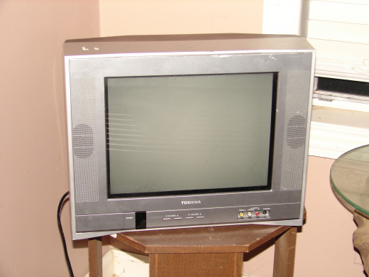 This television set is a 12 inch color set made by Toshiba and it came out in 1992. TV sets have come a long way since this set was released.