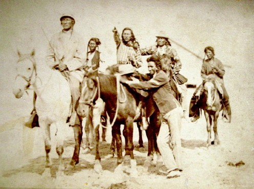 Crow Nation members, 1880s.