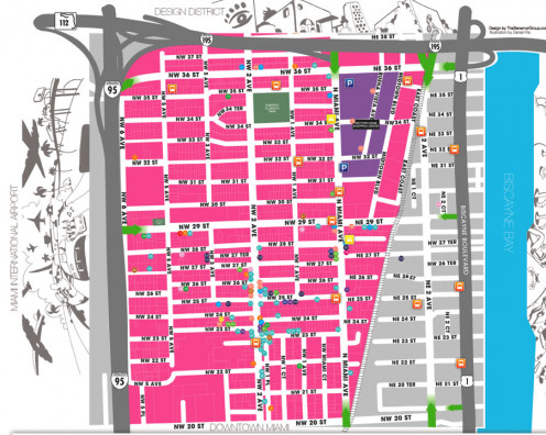 Map of Wynwood Miami