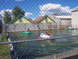On really hot days, you can get wet as the water spashes between the bumper boats