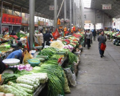 Fresh vegetables and fruits, are sold cheaper and in bulk at farmers' markets.
