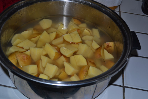 Boil your potatoes.