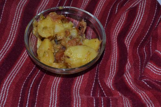 Enjoy your yummy potato salad.