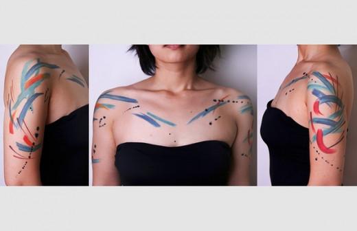 Paint strokes tattoo