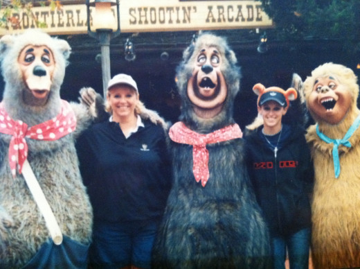 My mom & I with the Country Bears at Magic Kingdom.  One of the only times I have been at Disney and it was chilly outside.  It was wonderful!