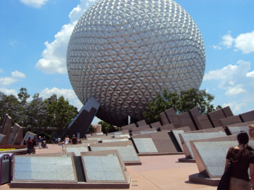 """Spaceship Earth"" - centerpiece of Epcot"