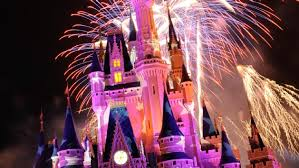 Fireworks on Cinderella's Castle at the Magic Kingdom
