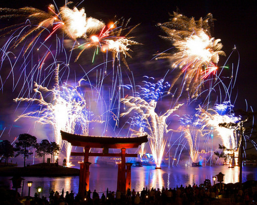 """Illuminations"" at Epcot"