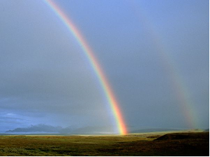 A double rainbow I pictured in New Mexico