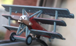Another view of the model of the plane flown by the infamous Red Baron.