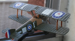 Another view of the model of a Sopwith Camel.