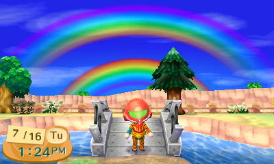 When I dress up as Samus, there's always a double rainbow.
