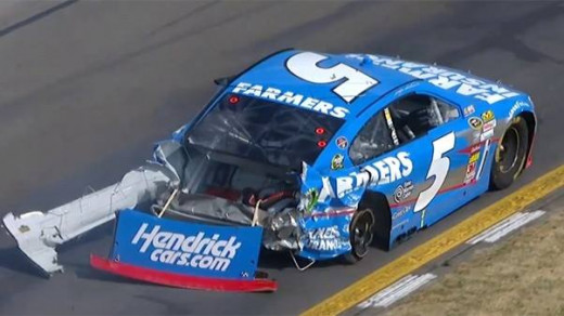 Four times this year Kahne's day has ended thanks to a crash involving JGR drivers