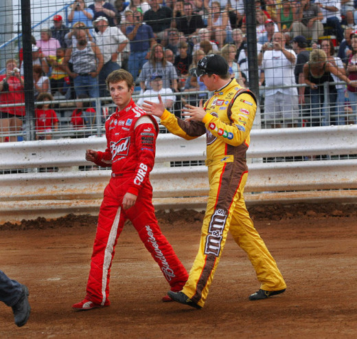 Kahne and Busch have talked things out before