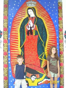 The same painting and children in 2007, Guadalajara, Mexico