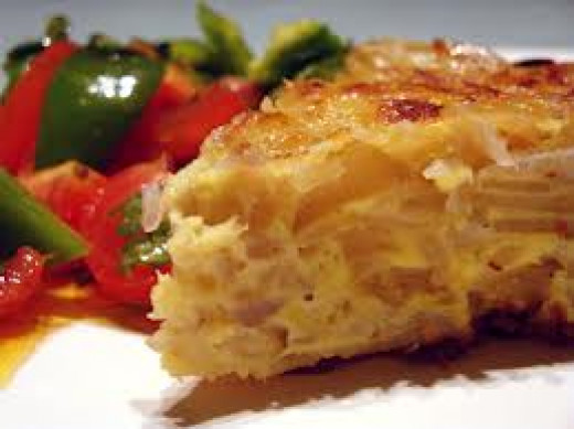 Spanish Omelette, or Tortilla, makes wonderful tapas but it can be served as a main course or is great served cold.