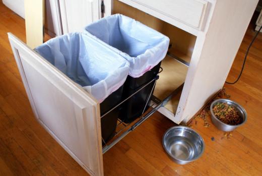 drawers for dust bin