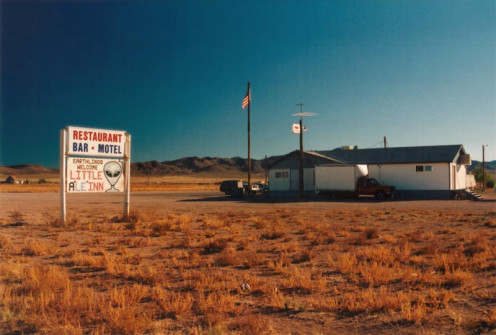 Near the back gate of Groom Lake/Area 51.