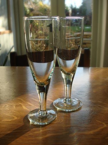 Elegant recycled wine glasses