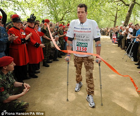Disabled soldier - London Marathon 13 days 2 hours 50 minutes - can this man give more?